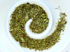 Stevia (sweet herb), chopped