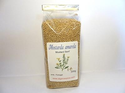 Mustard seeds, yellow, whole
