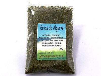 Ervas do Algarve, geschnitten