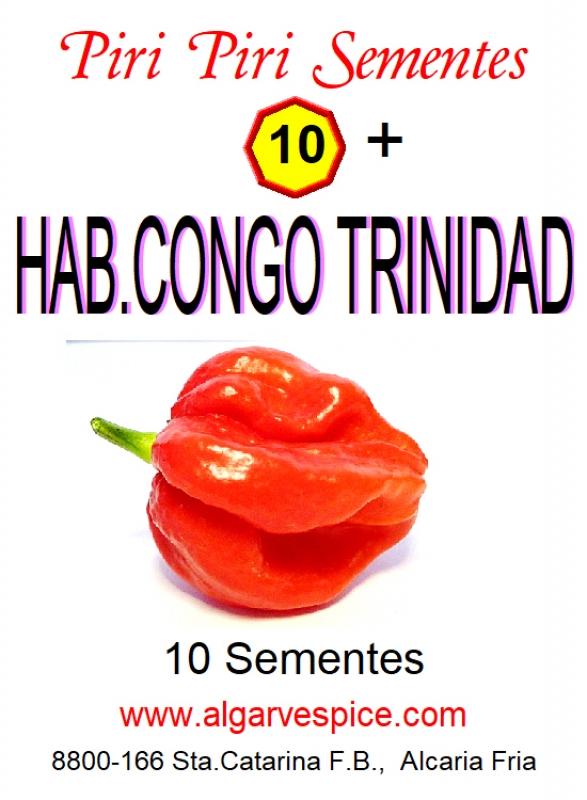 Chili pepper seeds, Habanero Congo Trinidad
