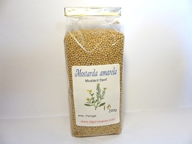 Mustard seeds, yellow, whole