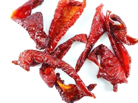 Smoked chili peppers,