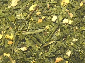 Green tea sencha with orange and ginger