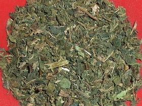 Stinging nettle leaves, chopped