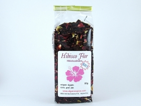 Hibiscus blossoms, chopped