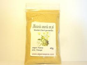 Mustard seeds, yellow, powder