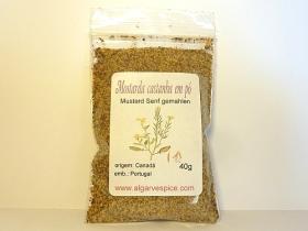 Mustard seeds, brown, powder