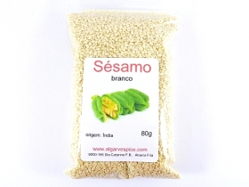 Sesame seeds, white, peeled, whole