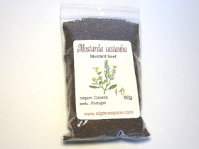 Mustard seeds, brown, whole