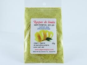 Lemon zest, without white, powder
